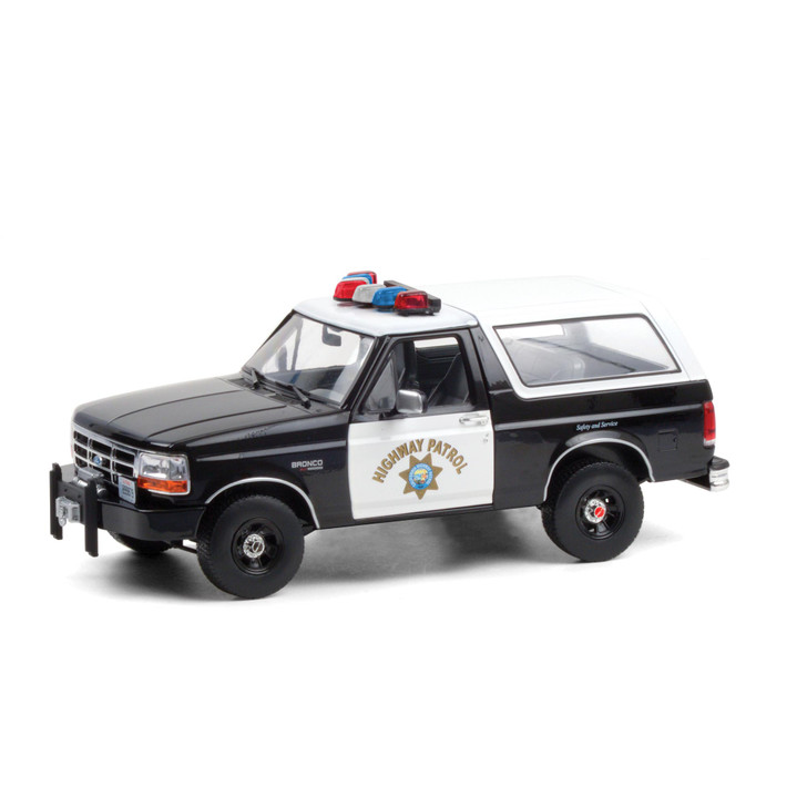 1995 Ford Bronco - California Highway Patrol 1:18 Scale Diecast Model by Greenlight Main Image