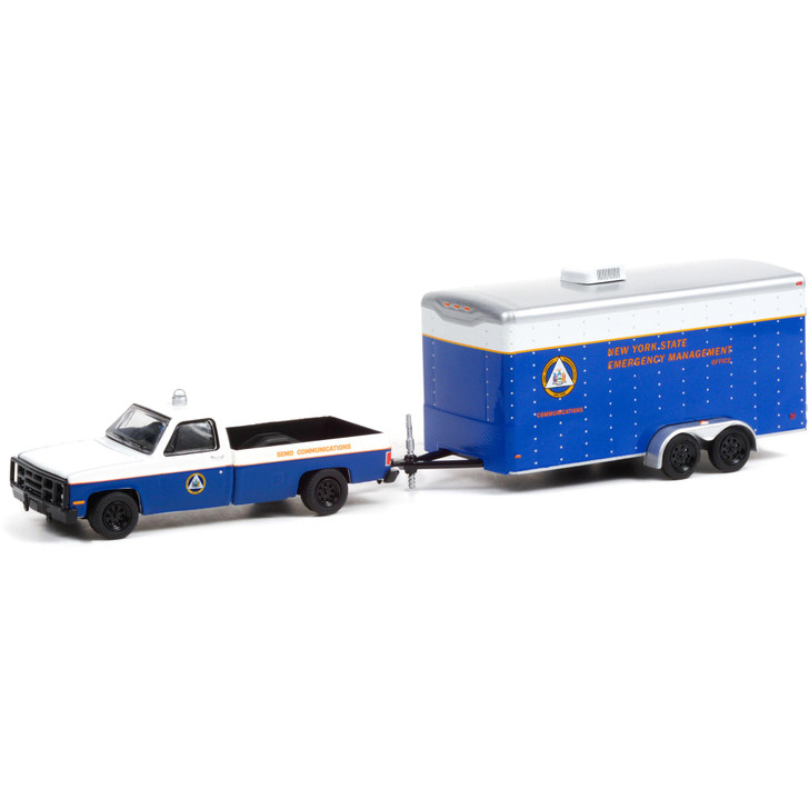 1987 Chevy M1008 NYS Emergency Management Office (SEMO) &  Communications Trailer 1:64 Scale Diecast Model by Greenlight Main Image
