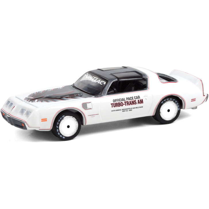 1980 Pontiac Firebird Turbo Trans Am 64th Indianapolis 500 Official Pace Car 1:64 Scale Diecast Model by Greenlight Main Image