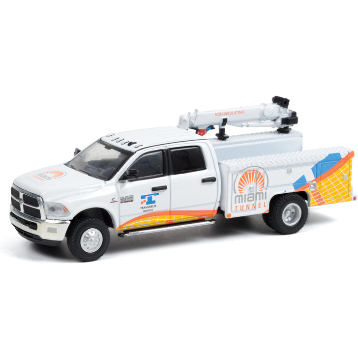 2015 Ram 3500 Crane Truck - Port of Miami Tunnel 1:64 Scale Diecast Model by Greenlight Main Image