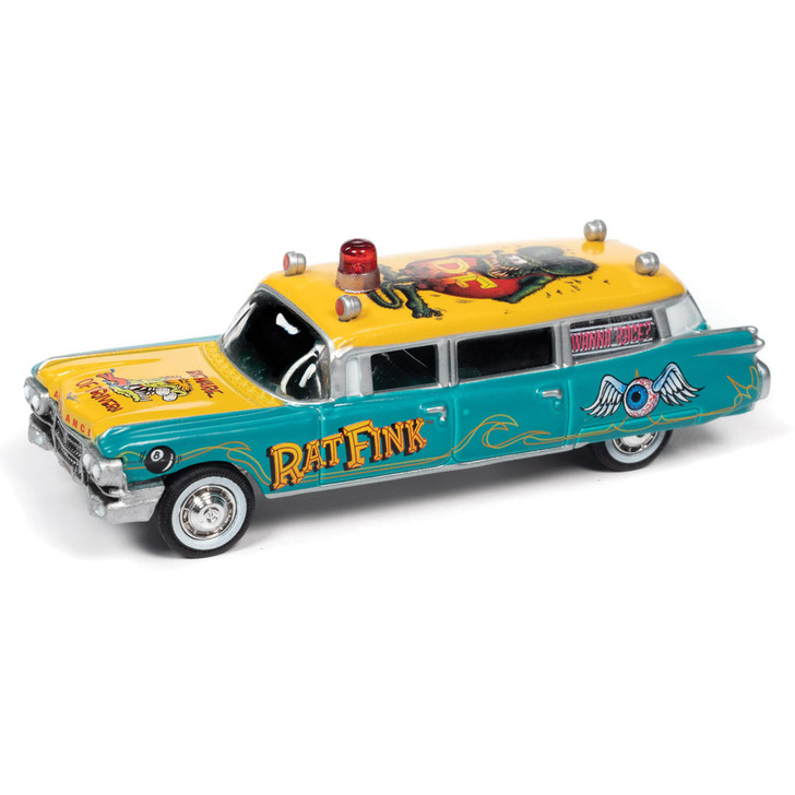 1959 Cadillac Ambulance Rat Fink 1:64 Scale Diecast Model by Johnny Lightning Main Image