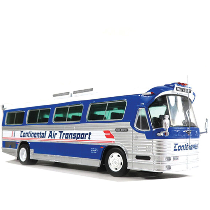 DINA FLXIBLE COACH CONTINENTAL AIR - O'Hare Airport 1:43 Scale Diecast Model by Iconic Replicas Main Image