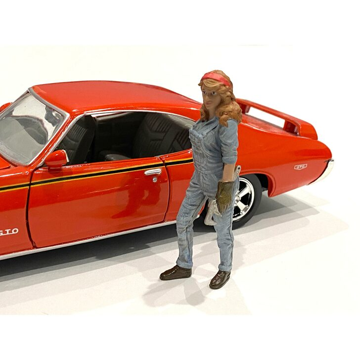 1:18 Retro Female Mechanic - III 1:18 Scale Diecast Model by American Diorama Main Image