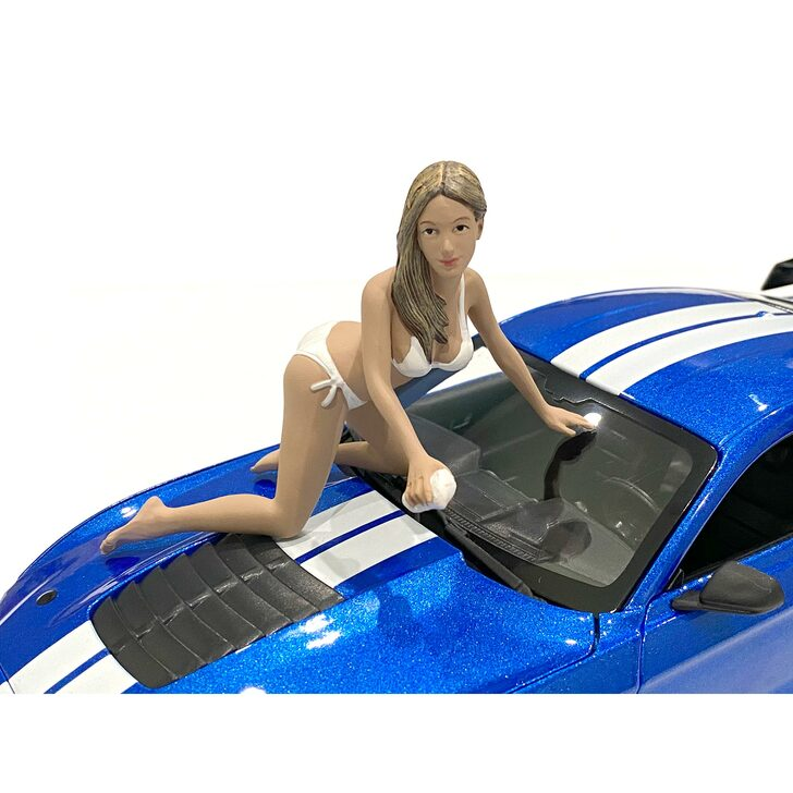 1:18 Bikini Car Wash Girl - Jenny 1:18 Scale Diecast Model by American Diorama Main Image