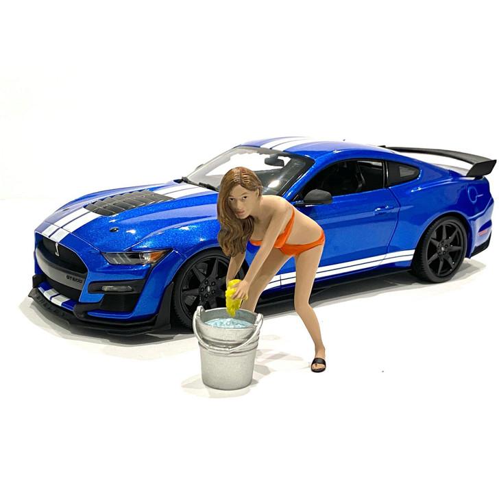 1:18 Bikini Car Wash Girl - Cindy (with bucket) 1:18 Scale Diecast Model by American Diorama Main Image