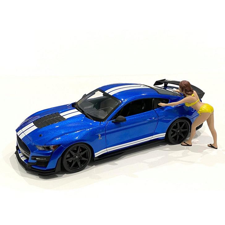 1:18 Bikini Car Wash Girl - Stephanie 1:18 Scale Diecast Model by American Diorama Main Image