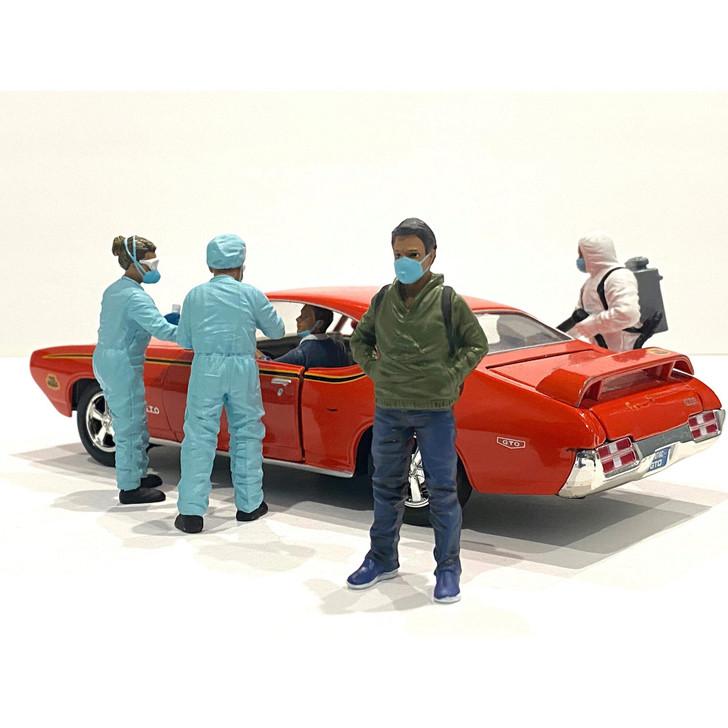 1:24 Hazmat Crew Figure - V 1:24 Scale Diecast Model by American Diorama Main Image