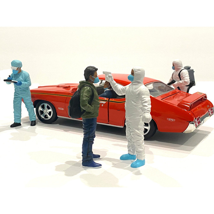 1:24 Hazmat Crew Figure - VI 1:24 Scale Diecast Model by American Diorama Main Image