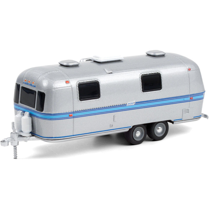 1971 Airstream Double-Axle Land Yacht Safari - Silver with Blue Stripe Main Image