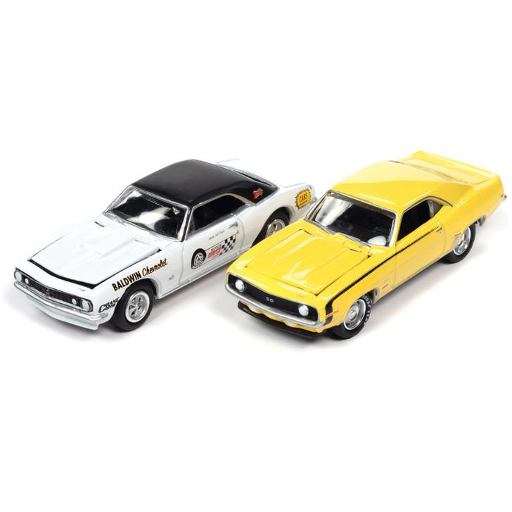 Chevy Baldwin Motion '67 & '69 Camaro 2Pk - White & Daytona Yellow Main Image