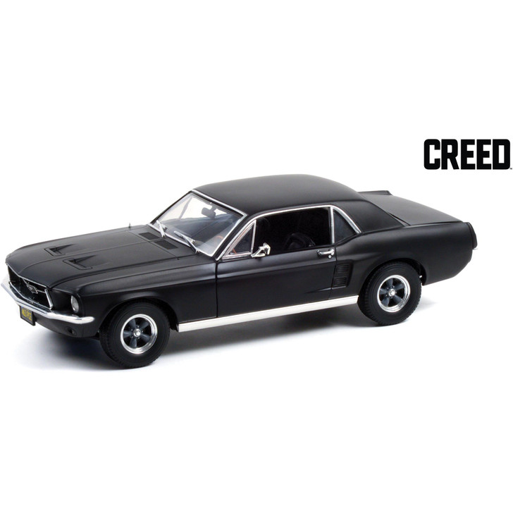 Adonis Creed 1:18 Scale 1967 Ford Mustang Coupe - Matte Black Main Image