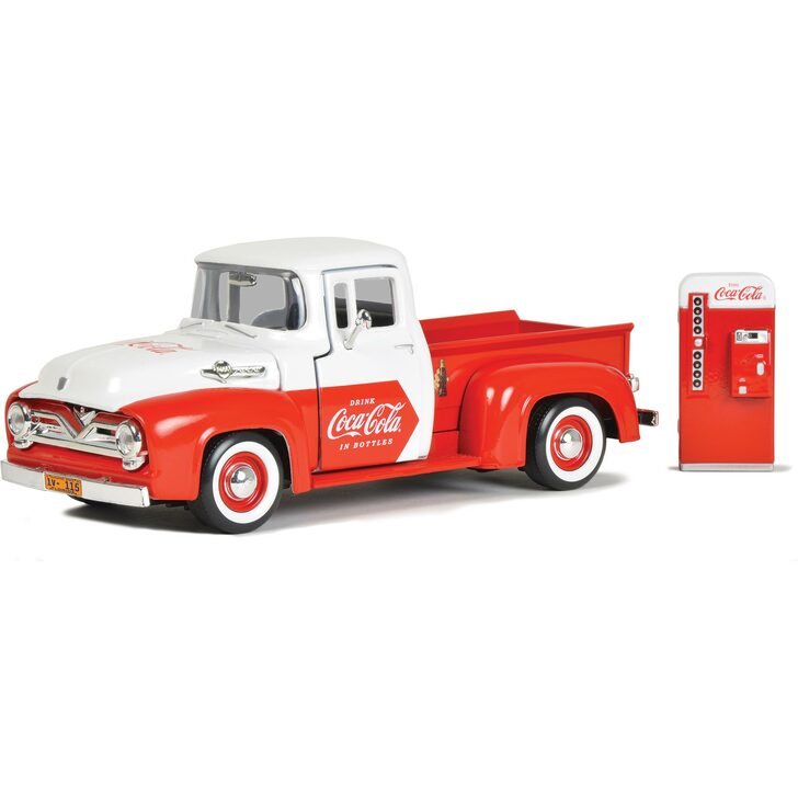 1955 Coca-Cola Ford F-100 Pickup with Coke Vending Machine Main Image