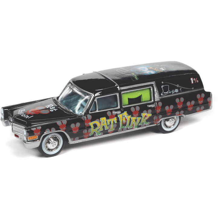 1966 Cadillac Hearse Rat Fink 1:64 Scale Diecast Model by Johnny Lightning Main Image