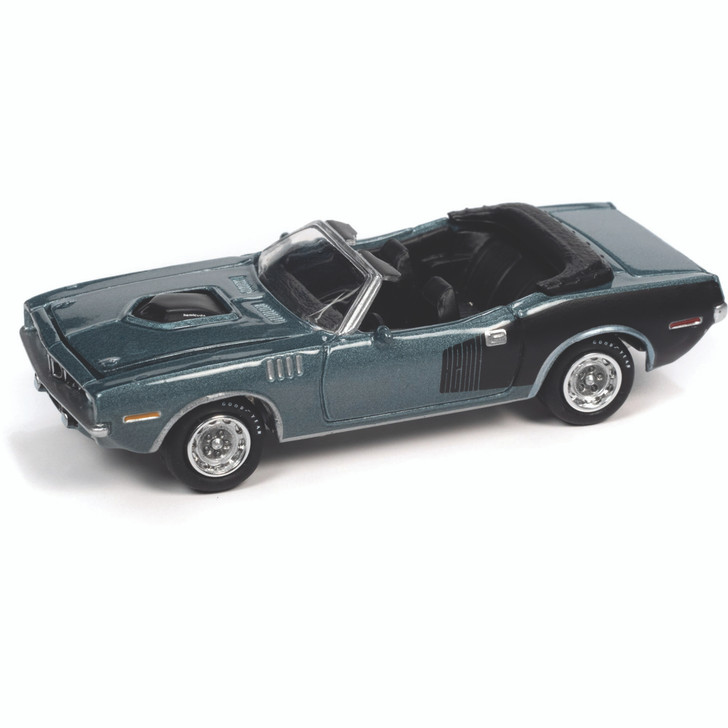 1971 Plymouth 'Cuda Convertible - Winchester Gray 1:64 Scale Diecast Model by Johnny Lightning Main Image