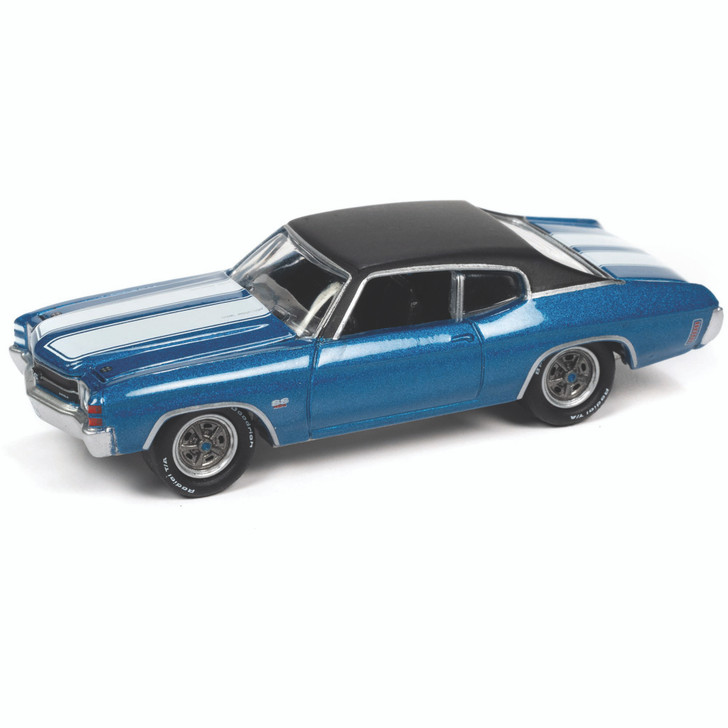 1971 Chevelle SS 454 - Muslsanne Blue 1:64 Scale Diecast Model by Johnny Lightning Main Image