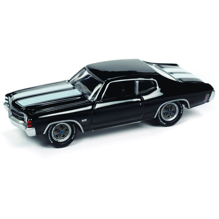 1971 Chevelle SS 454 - Gloss Black 1:64 Scale Diecast Model by Johnny Lightning Main Image