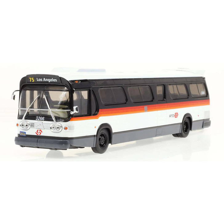 GM New Look Fishbowl TDH-5303 Los Angeles Metro Bus - Bandit Scheme 1:43 Scale Diecast Model by Iconic Replicas Main Image
