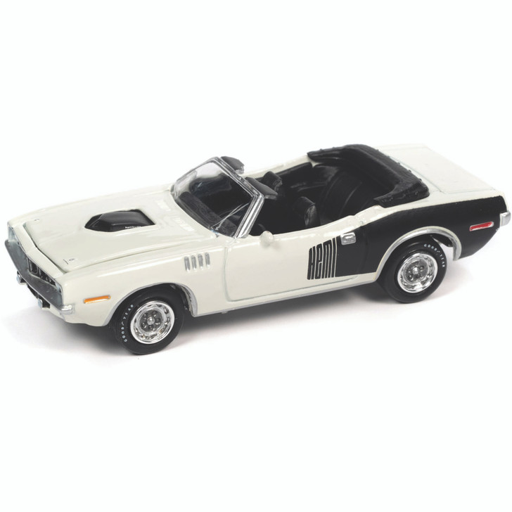 1971 Plymouth 'Cuda Convertible - Sno White 1:64 Scale Diecast Model by Johnny Lightning Main Image