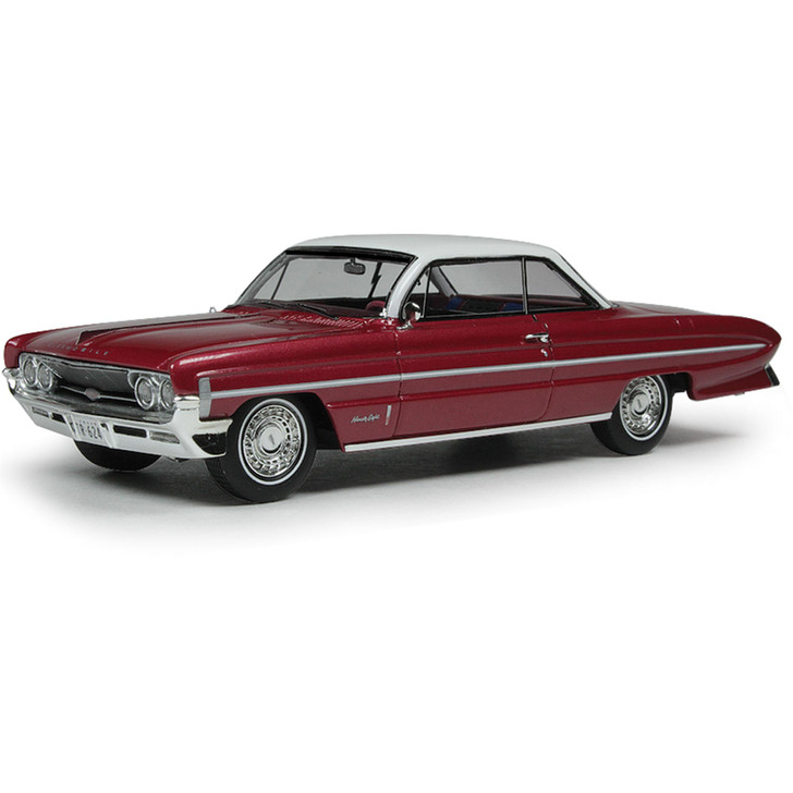 1961 OLDSMOBILE BUBBLE TOP - RED METALLIC 1:43 Scale Diecast Model by Goldvarg Collection Main Image
