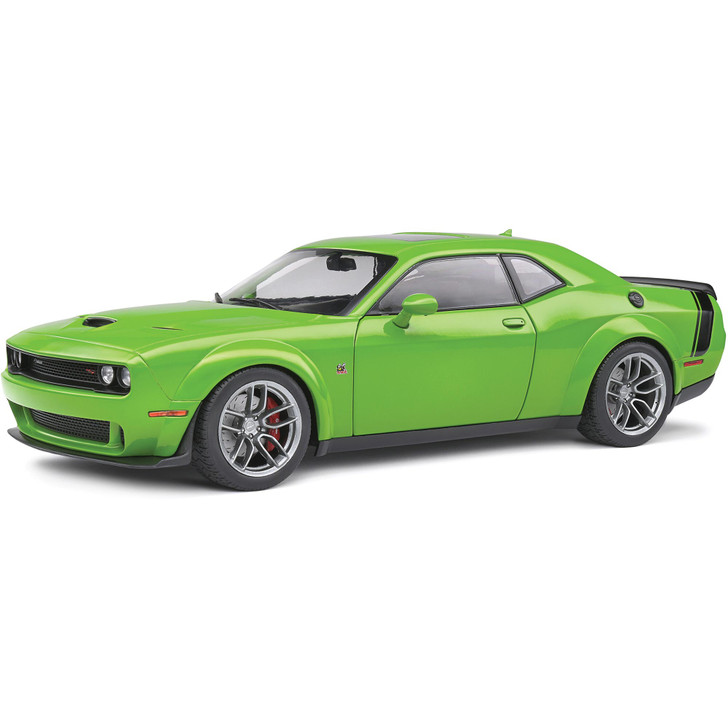 2020 Dodge Challenger R/T SCAT PACK Widebody - Green 1:18 Scale Diecast Model by Solido Main Image