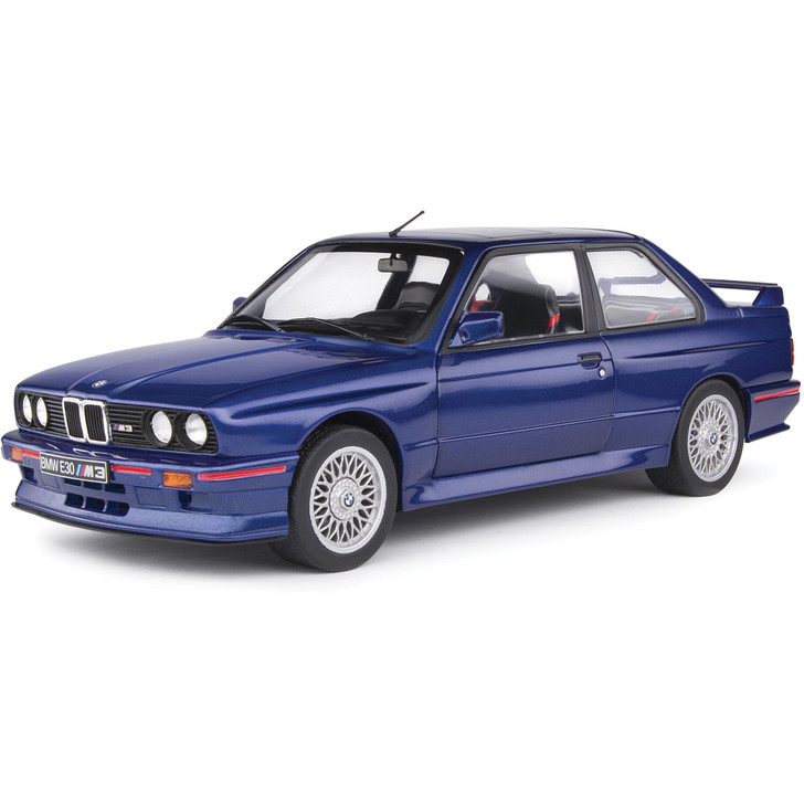 1990 BMW E30 M3 - Mauritius Blue 1:18 Scale Diecast Model by Solido Main Image