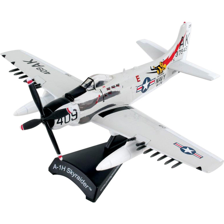A-1H Skyraider Attack Aircraft - Papoose Flight 1:110 Scale Diecast Model by Postage Stamp Main Image