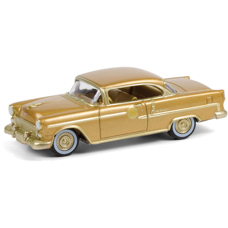 1955 Chevrolet Bel Air - The 50 Millionth General Motors Car - Gold-Plated 1:64 Scale Diecast Model by Greenlight Main Image