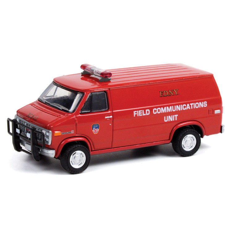 1989 GMC Vandura - FDNY (Fire Department of New York) Field Communications Unit 1:64 Scale Diecast Model by Greenlight Main Image