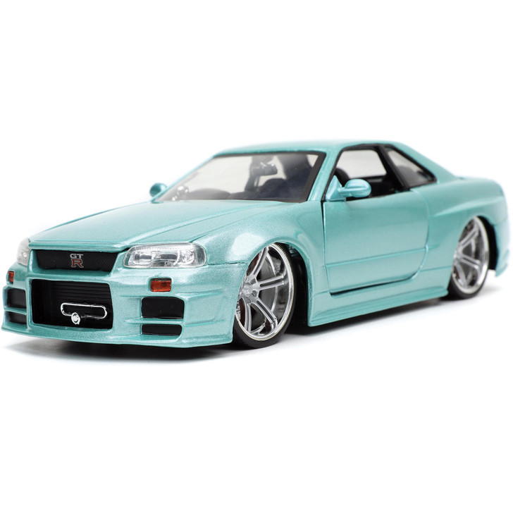 Fast & Furious Brian's Nissan Skyline GT-R (R34)) 1:24 Scale Diecast Model by Jada Toys Main Image