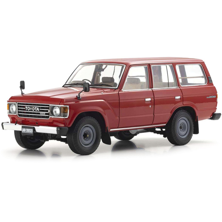 Toyota Land Cruiser J60 Wagon - Red 1:18 Scale Diecast Model by Kyosho