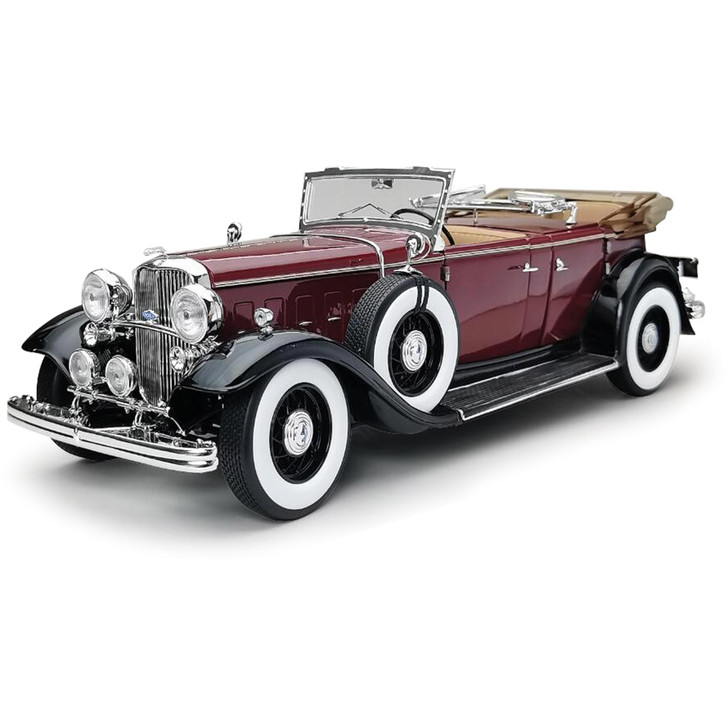 1932 Lincoln KB Convertible - Maroon 1:18 Scale Diecast Model by Sunstar Main Image