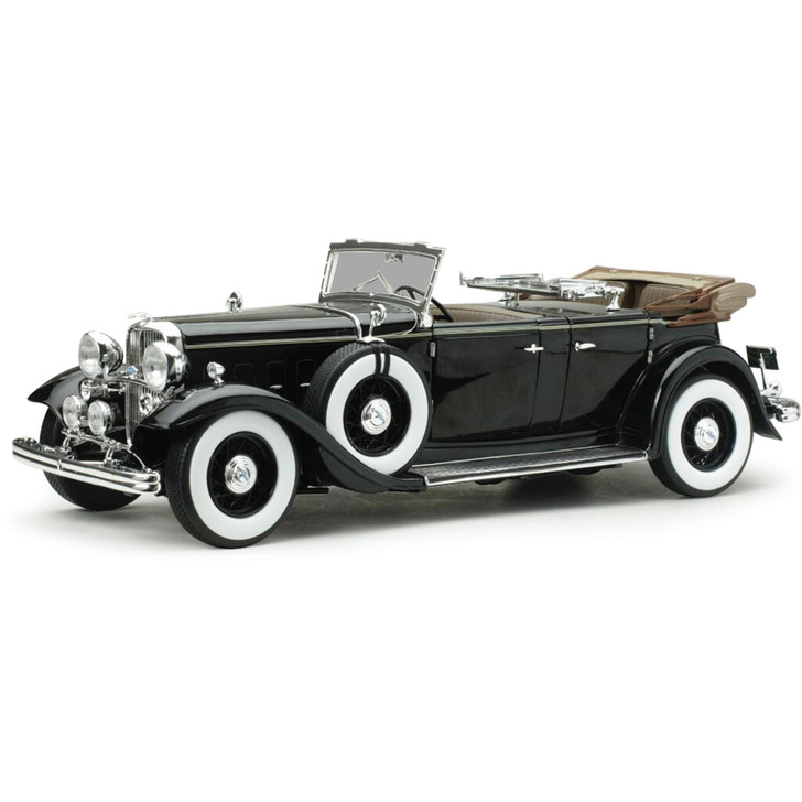 1932 Lincoln KB Convertible - Black 1:18 Scale Diecast Model by Sunstar Main Image