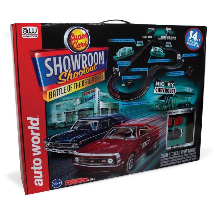 Nickey vs. Yenko Performance Dealership Shootout 14' Slot Car Race Set  Diecast Model by Auto World Main Image
