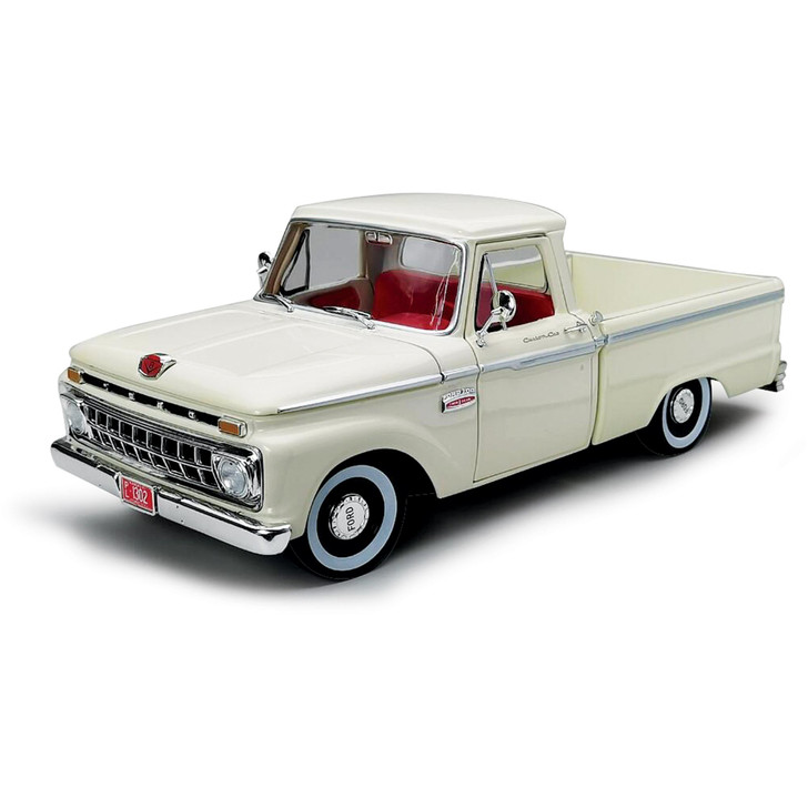 1965 Ford F-100 Pickup - White 1:18 Scale Diecast Model by Sunstar Main Image