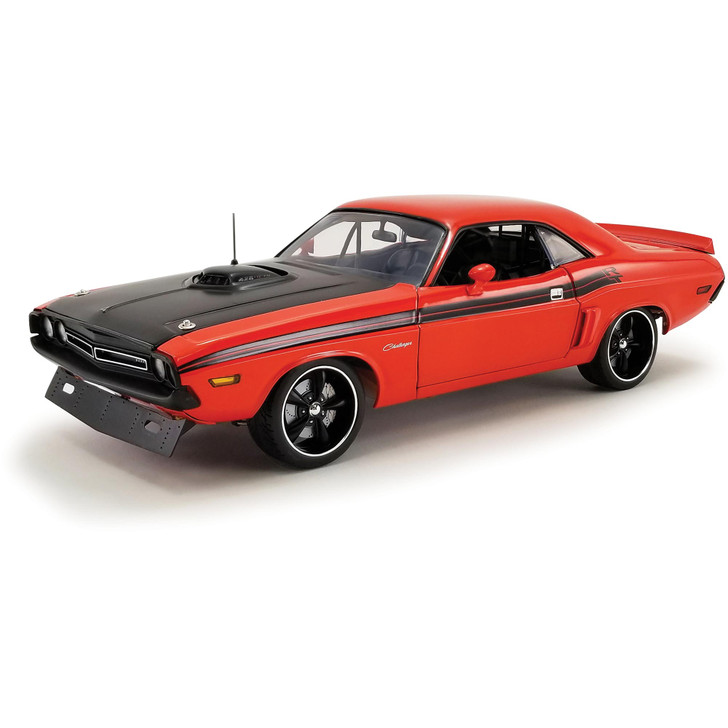 1971 Dodge Challenger R/T Street Fighter - Fireball 1:18 Scale Diecast Model by Acme Main Image