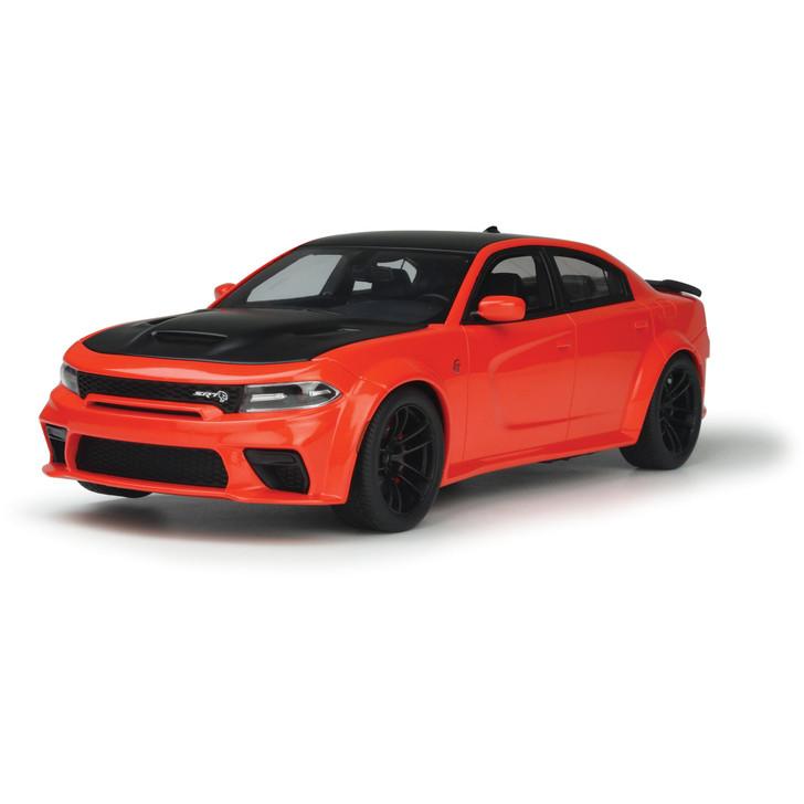 2021 Dodge Charger SRT Hellcat Redeye - Go Mango 1:18 Scale Diecast Model by GT Spirit Main Image