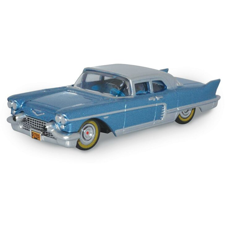1957 Cadillac Eldorado Brougham - Copenhagen Blue / Stainless Steel 1:87 Scale Diecast Model by Oxford Diecast Main Image