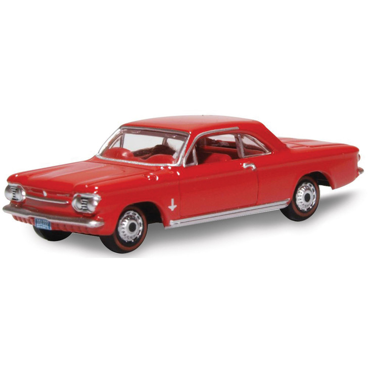 1963 Chevrolet Corvair Coupe - Riverside Red 1:87 Scale Diecast Model by Oxford Diecast Main Image