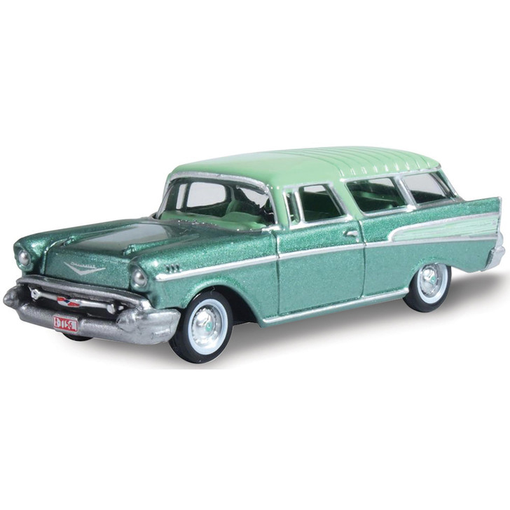 1957 Chevrolet Nomad - Surf Green / Highland Green 1:87 Scale Diecast Model by Oxford Diecast Main Image