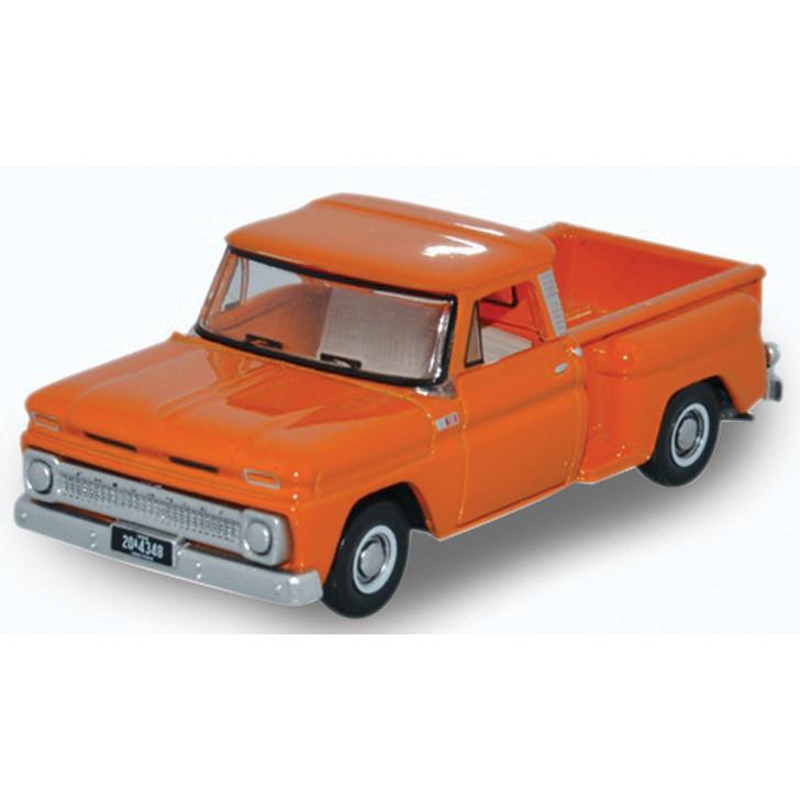 1965 Chevrolet Stepside Pickup - Orange 1:87 Scale Diecast Model by Oxford Diecast Main Image
