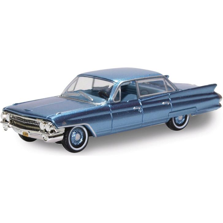 1961 Cadillac Sedan de Ville - Nautilus Blue 1:87 Scale Diecast Model by Oxford Diecast Main Image