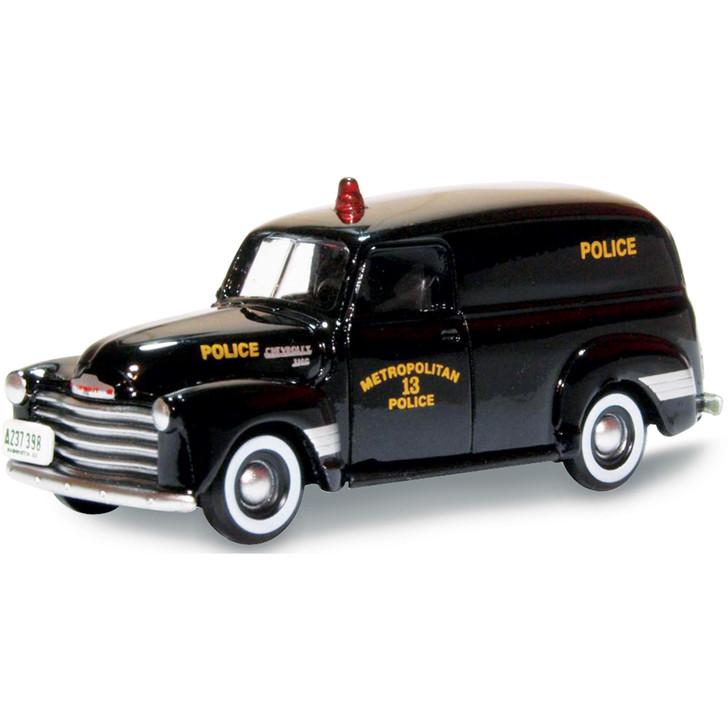 1950 Chevrolet 3100 Police Van - Washington D.C. 1:87 Scale Diecast Model by Oxford Diecast Main Image