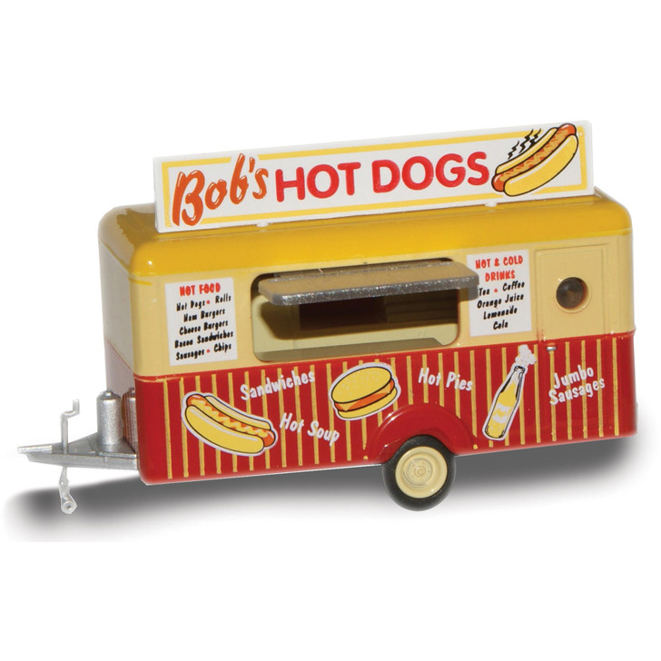 Mobile Trailer - Bob's Hot Dogs 1:87 Scale Diecast Model by Oxford Diecast Main Image