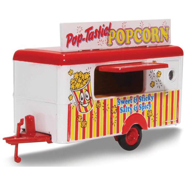 Mobile Trailer - Pop-Tastic Popcorn 1:87 Scale Diecast Model by Oxford Diecast Main Image