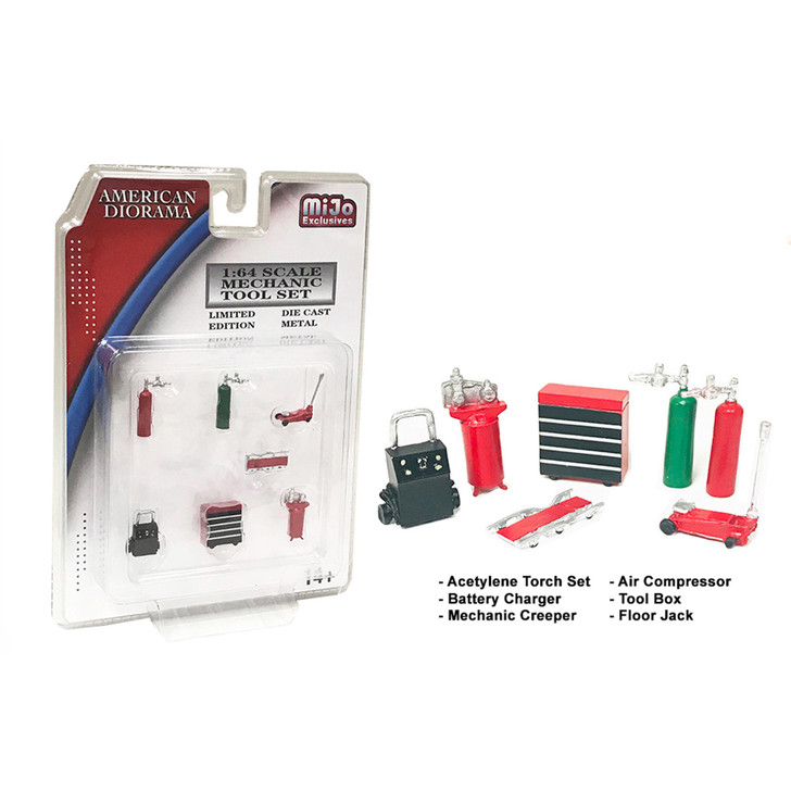 Mechanic 1:64 Diecast Shop Tool Collection - Red 1:64 Scale Diecast Model by American Diorama Main Image