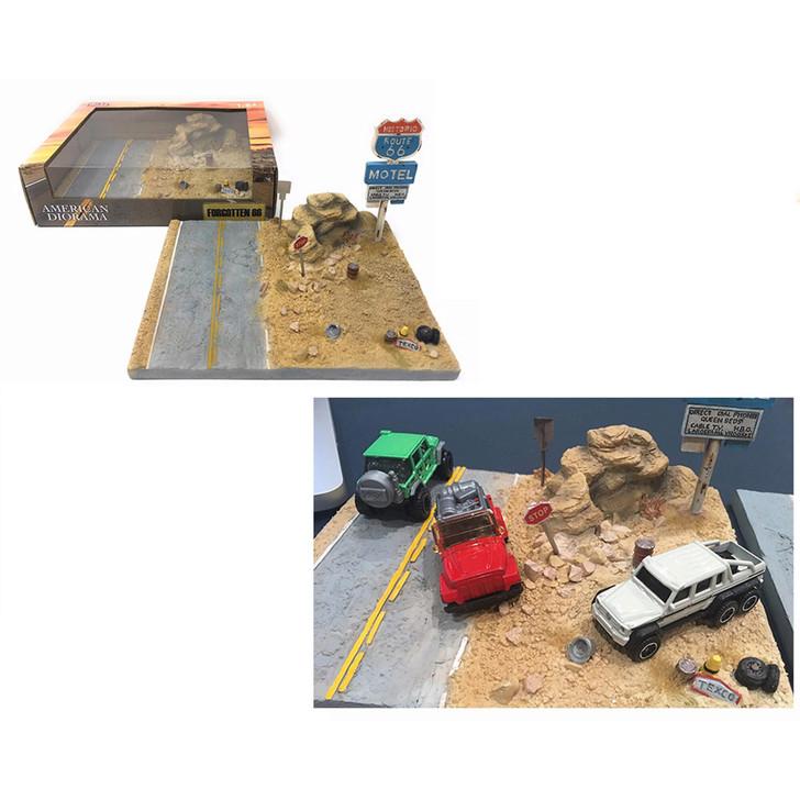 Forgotten Route 66 1:64 Roadside Diorama 1:64 Scale Diecast Model by American Diorama Main Image