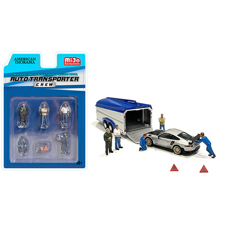 Auto Transporter Crew 1:64 Diecast Figure Collection 1:64 Scale Diecast Model by American Diorama Main Image