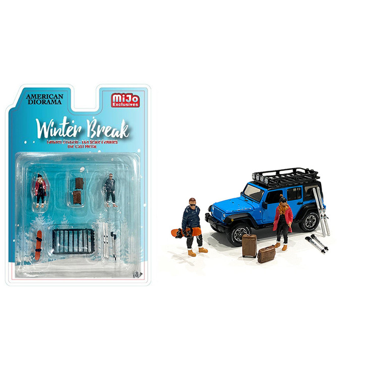 Winter Break 1:64 Diecast Figure Collection 1:64 Scale Diecast Model by American Diorama Main Image
