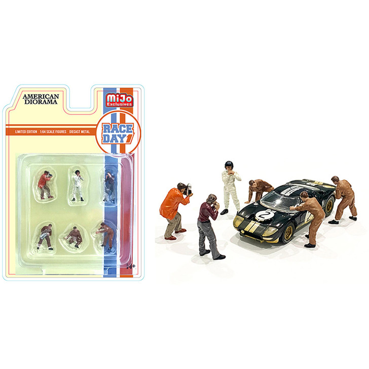 Race Day 1 - 1:64 Diecast Figure Collection 1:64 Scale Diecast Model by American Diorama Main Image