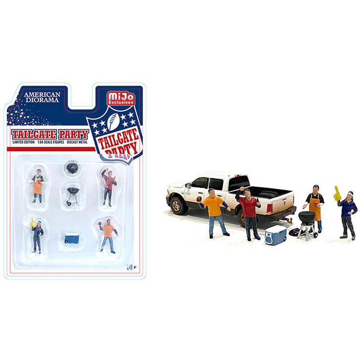 Tailgate Party 1:64 Diecast Figure Collection 1:64 Scale Diecast Model by American Diorama Main Image